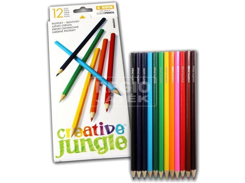 kép nagyítása Mártott színes ceruza - 12 darabos készlet