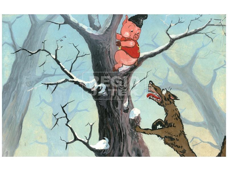 kép nagyítása A kismalac meg a farkasok diafilm 34101847