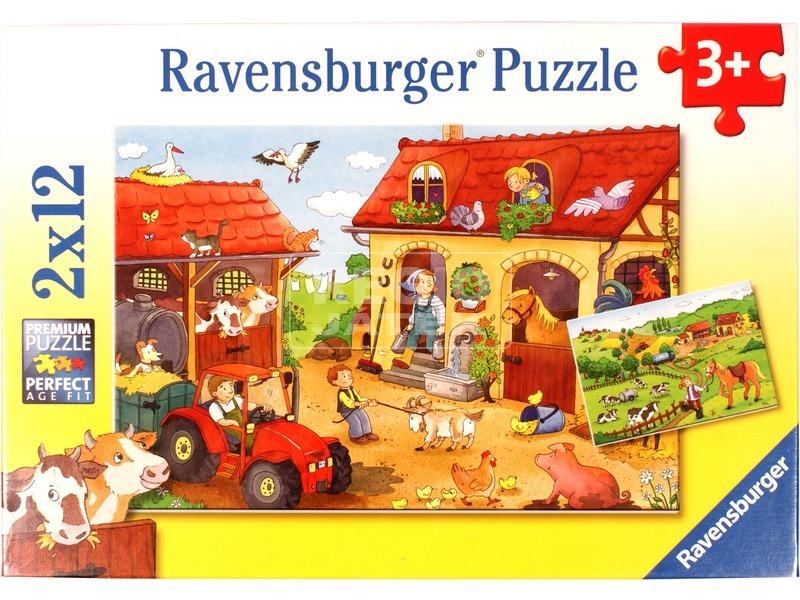 Tanyasi élet 2 x 12 darabos puzzle