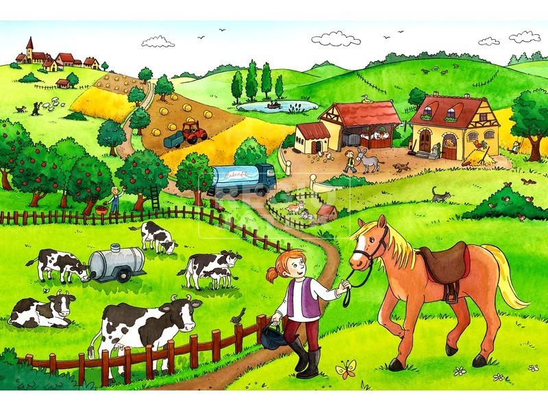 kép nagyítása Tanyasi élet 2 x 12 darabos puzzle