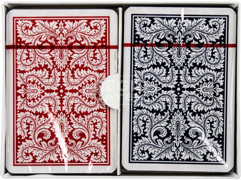 kép nagyítása Bécsi standard 2 x 55 lapos römikártya