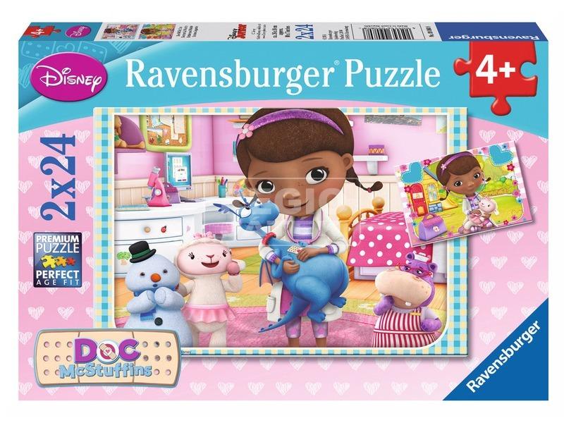 Dr. Plüssi 2 x 24 darabos puzzle