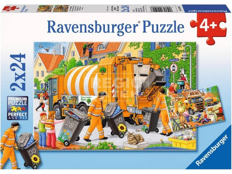 Kukásautó 2 x 24 darabos puzzle
