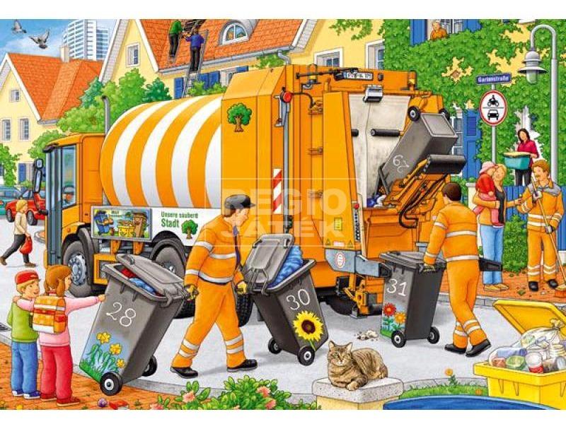 kép nagyítása Kukásautó 2 x 24 darabos puzzle