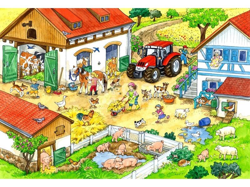 kép nagyítása Tanyasi élet 2 x 24 darabos puzzle