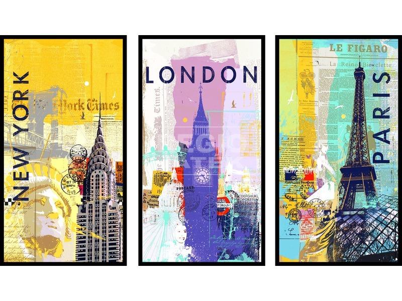 Világvárosok 3 x 500 darabos puzzle