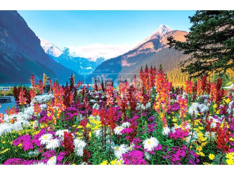 Virágzó hegyvidék 3000 darabos panoráma puzzle