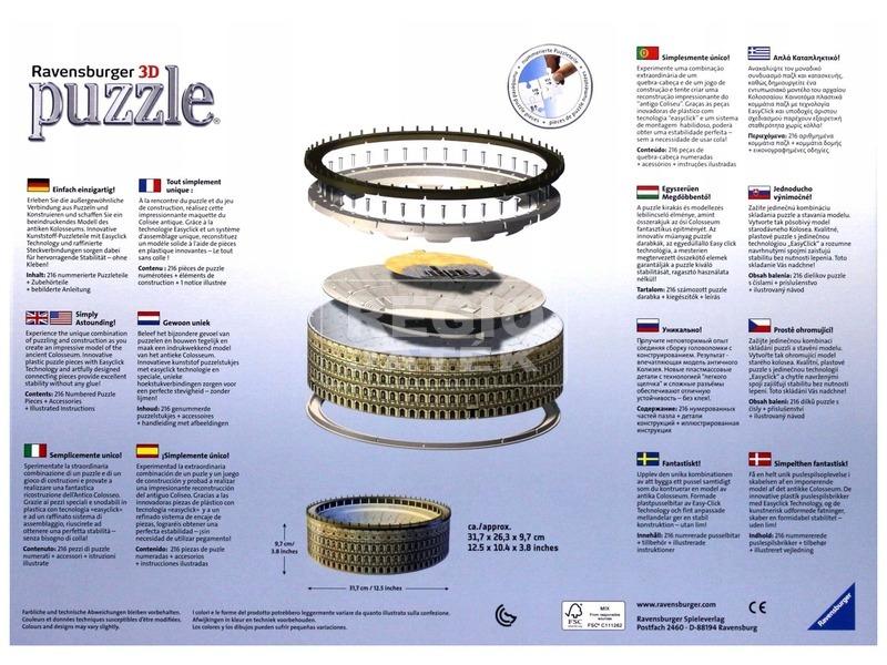 kép nagyítása A római Colosseum 216 darabos 3D puzzle