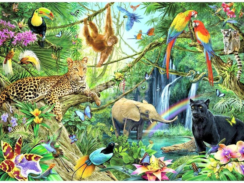 Dzsungel 200 darabos XXL puzzle