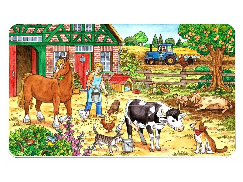 kép nagyítása Tanyasi élet 15 darabos puzzle