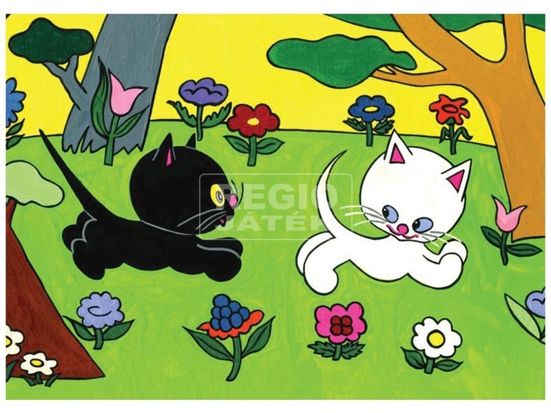 kép nagyítása Cikicakk, a fekete cica diafilm 34104237