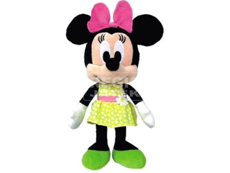 Minnie egér Disney plüssfigura virágos ruhában - 25 cm