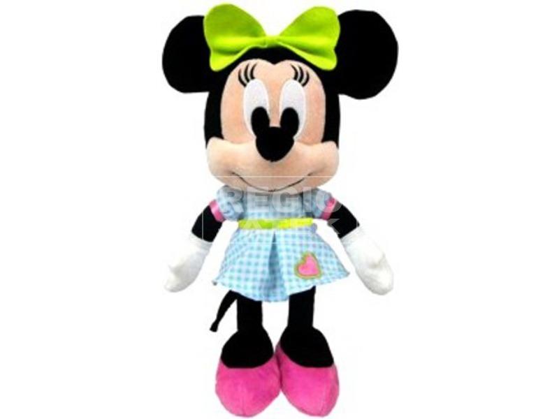 Minnie egér Disney plüssfigura szívecskés ruhában - 25 cm