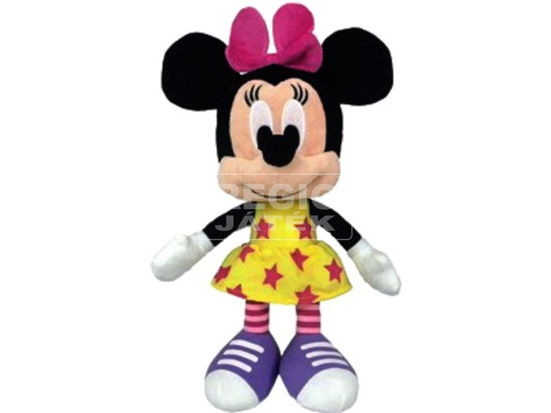 Minnie egér Disney plüssfigura csillagos ruhában - 25 cm