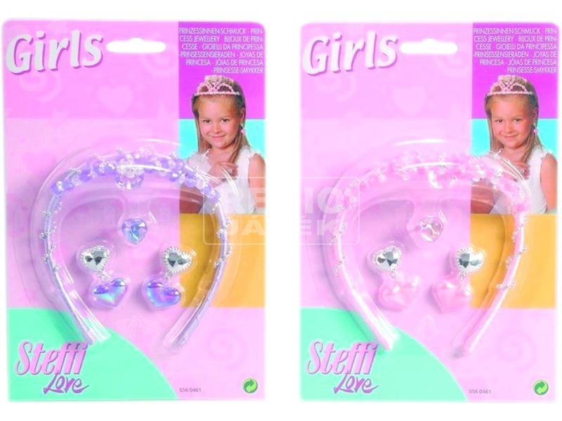 Steffi Girls gyöngy hajráf, gyűrű és fülbevaló