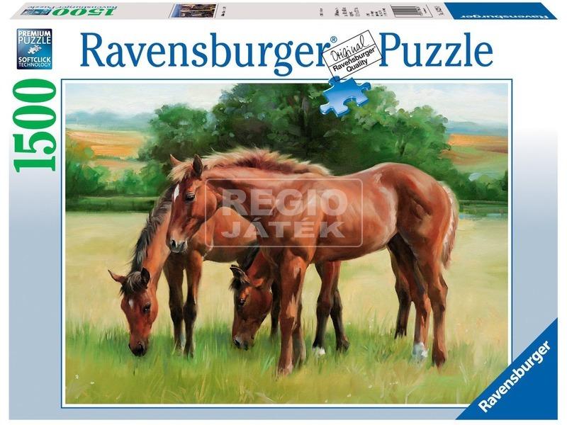 Legelésző lovak 1500 darabos puzzle