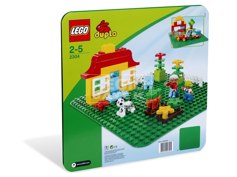 LEGO DUPLO Zöld építőlap 2304