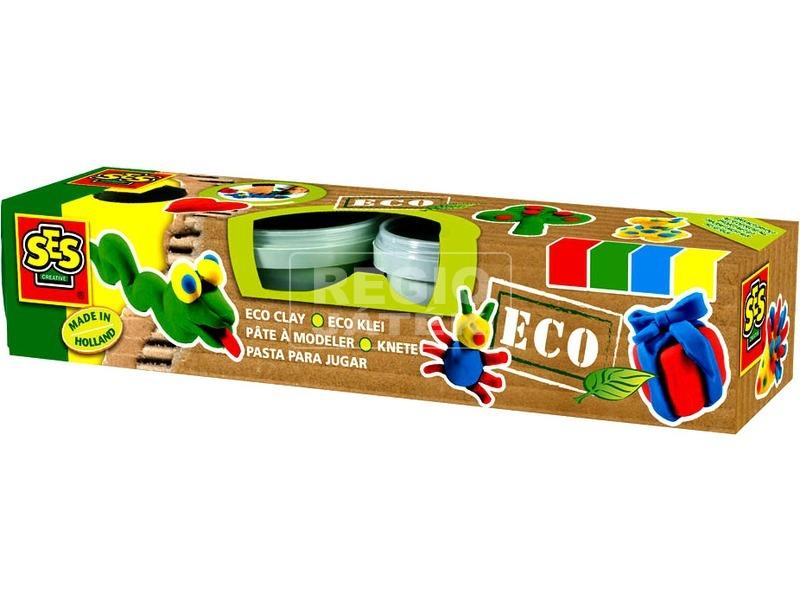 SES Eco 4 darabos gyurmakészlet - alapszínek