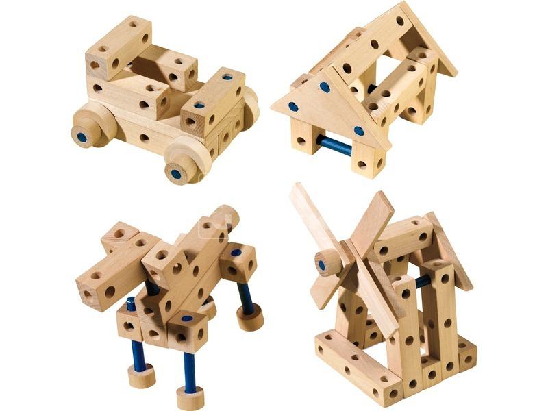 kép nagyítása SES fa építőjáték készlet