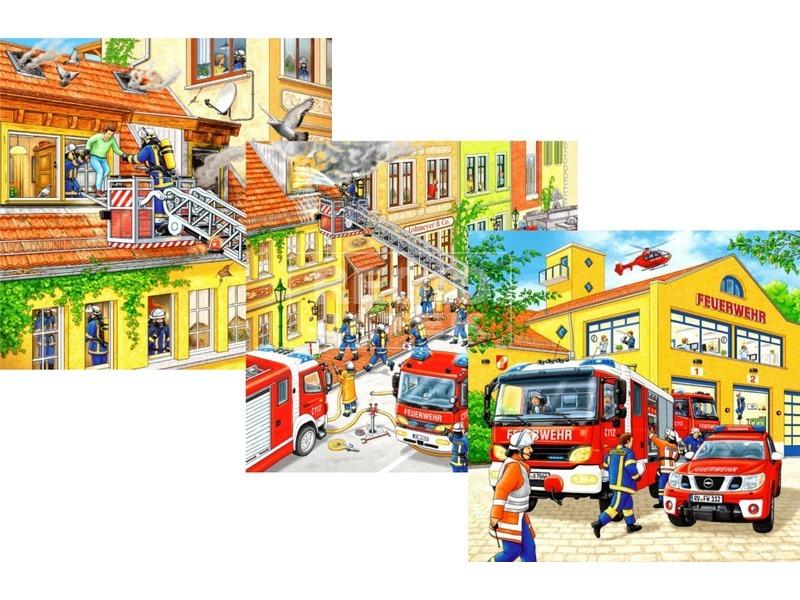 Puzzle 3x49 db - Tűzoltók