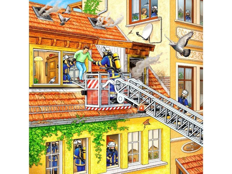 kép nagyítása Puzzle 3x49 db - Tűzoltók