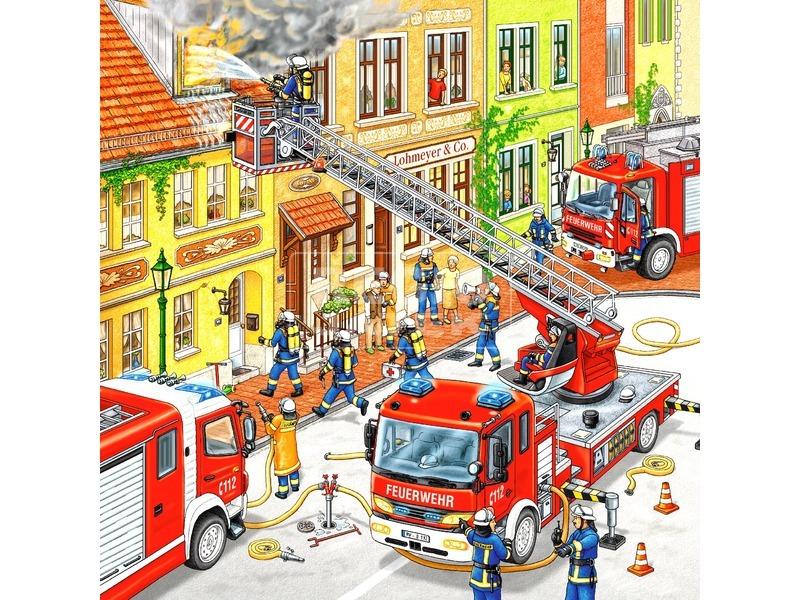 kép nagyítása Tűzoltók 3 x 49 darabos puzzle
