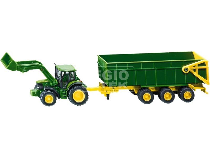 SIKU John Deere traktor utánfutóval 1:87 - 1843