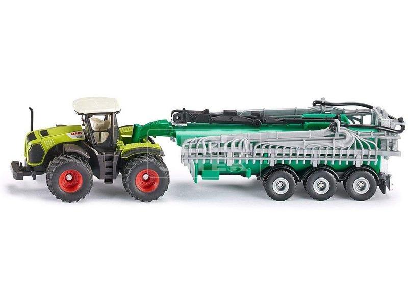 kép nagyítása SIKU: Claas Xerion traktor locsoló utánfutóval - 1:87
