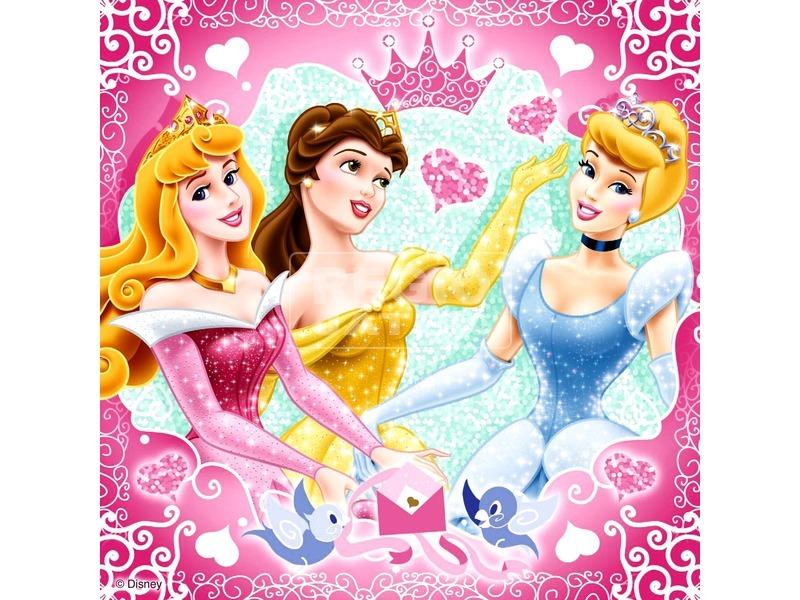 kép nagyítása Disney hercegnők 3 x 49 darabos puzzle