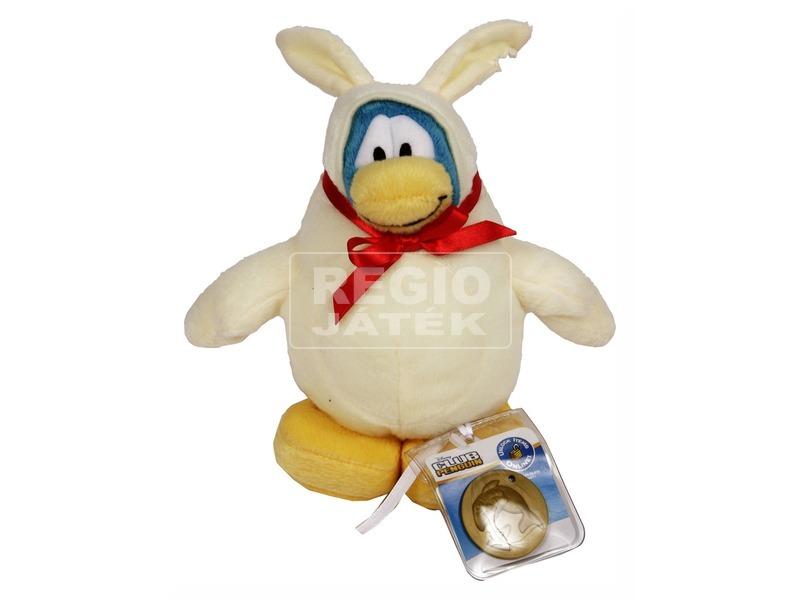 Pingvin Klub White Bunny plüssfigura - 17 cm