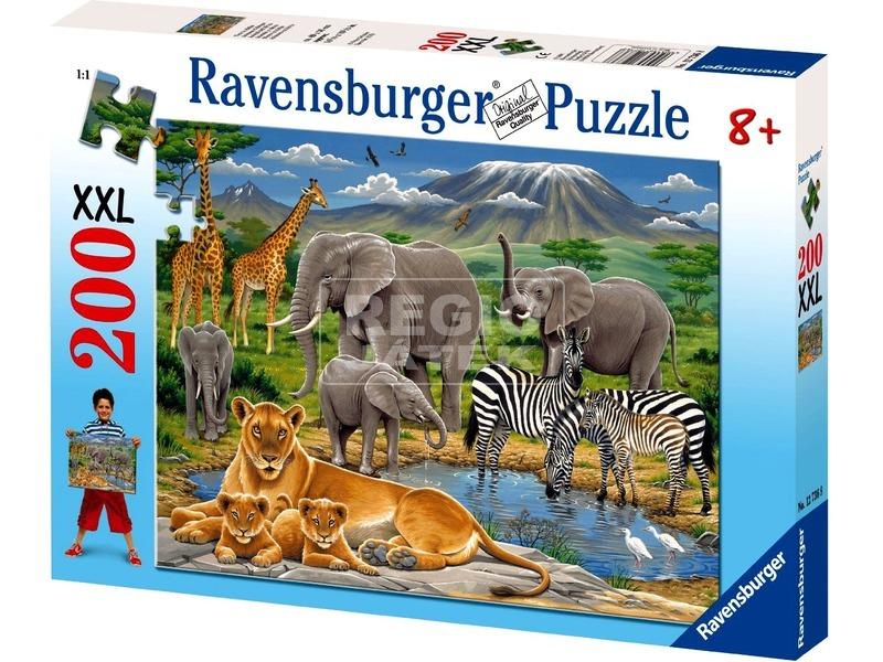 kép nagyítása Afrika állatai 200 darabos XXL puzzle