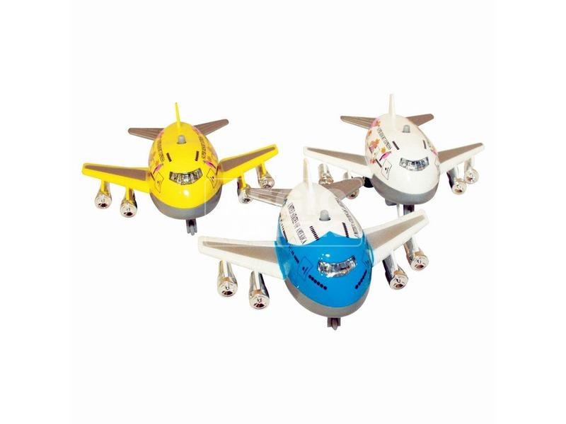 Jumbo repülő fénnyel és hanggal - 8 cm, többféle