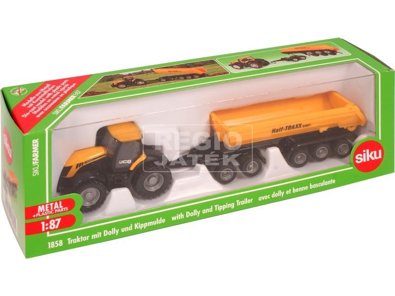 Siku: JCB traktor dömper utánfutóval - 1:87