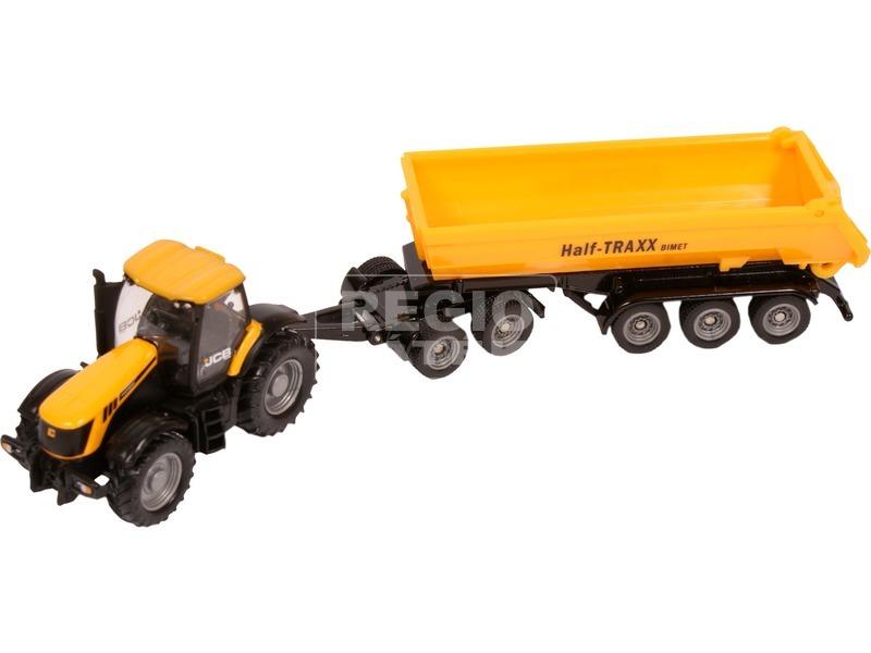 kép nagyítása Siku: JCB traktor dömper utánfutóval - 1:87