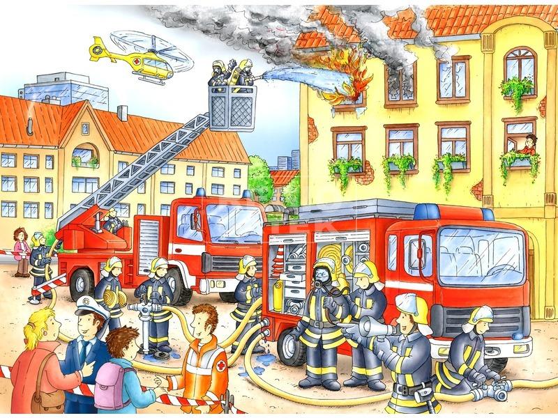 Tűzoltók 100 darabos XXL puzzle