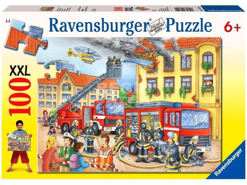 kép nagyítása Tűzoltók 100 darabos XXL puzzle