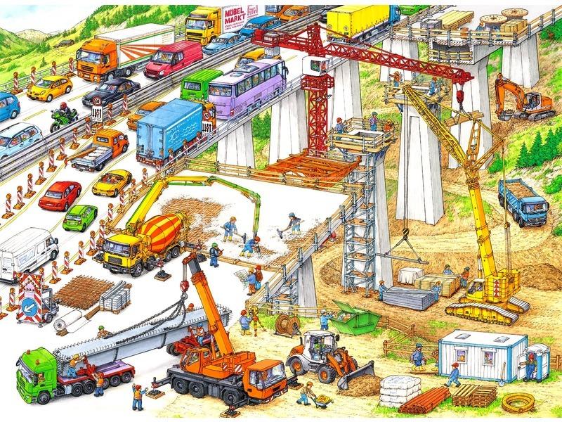 Építkezés 100 darabos XXL puzzle