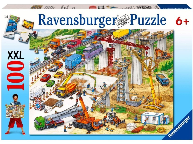 kép nagyítása Építkezés 100 darabos XXL puzzle