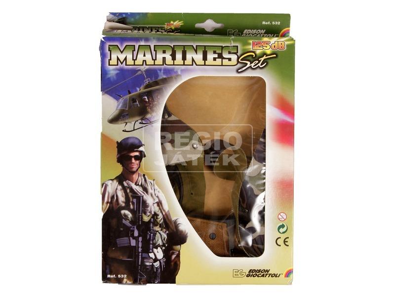 Katonai patronos játékpisztoly tokkal