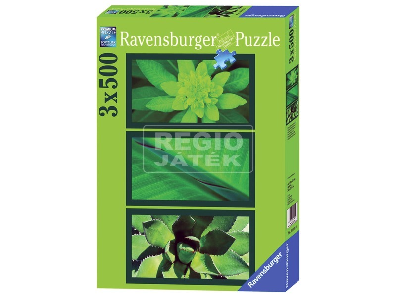 Zöld hangulat 3 x 500 darabos puzzle