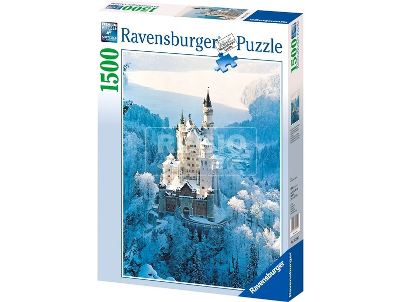 kép nagyítása Neuschwanstein-i kastély télen 1500 darabos puzzle