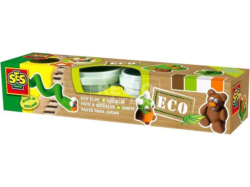Eco 4 darabos gyurmakészlet - föld színek