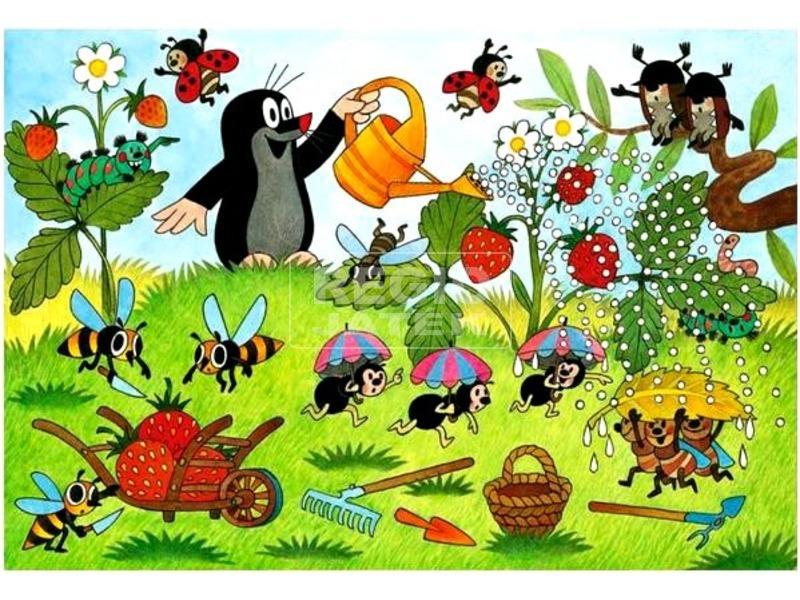 kép nagyítása Kisvakond a kertben 2 x 24 darabos puzzle