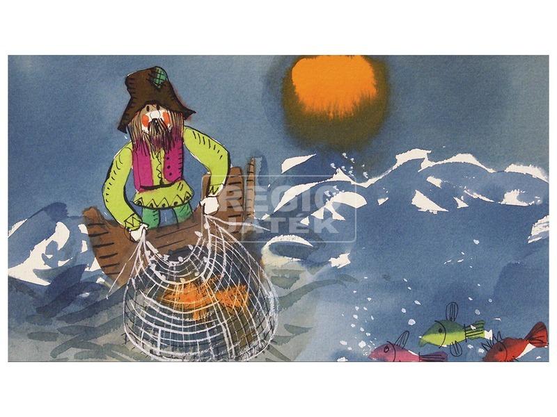 kép nagyítása Mese a halászról meg a kishalról diafilm 34100772