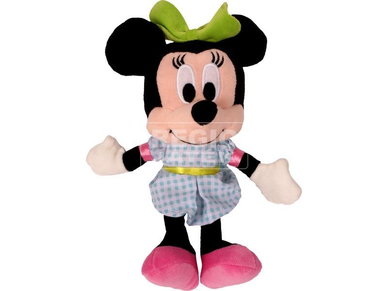 Minnie egér Disney plüssfigura kék ruhában - 20 cm