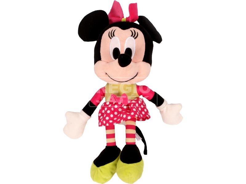 Minnie egér Disney plüssfigura pöttyös szoknyában - 25 cm