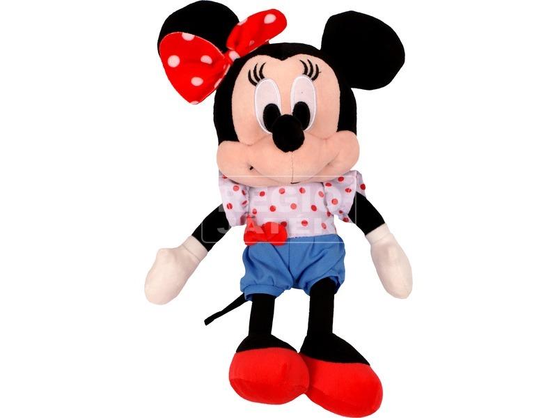 Minnie egér Disney plüssfigura rövidnadrágban - 25 cm