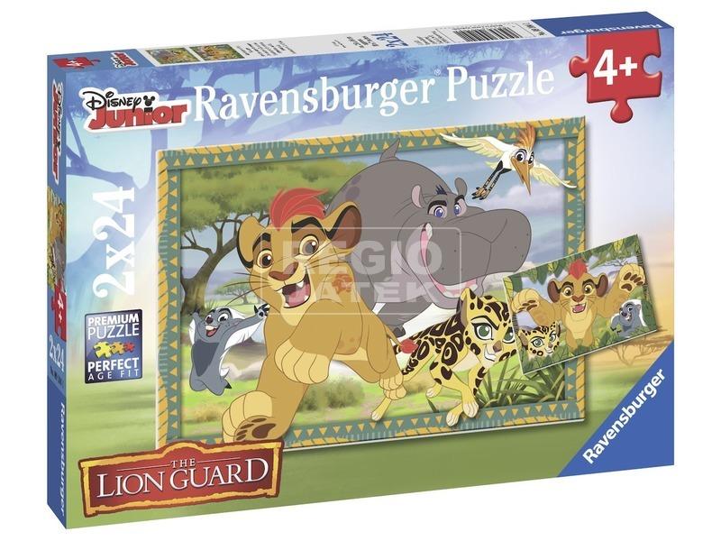 Oroszlán őrség 2 x 24 darabos puzzle