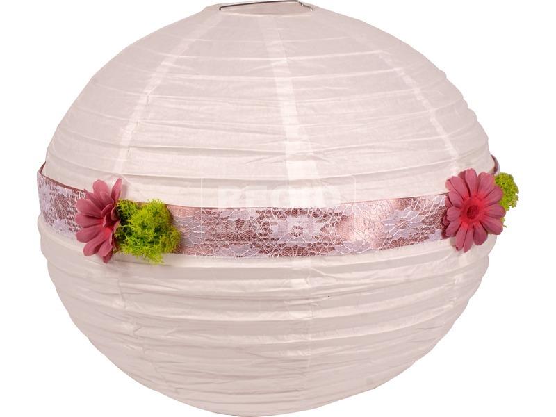 Lampion - fehér, 40 cm