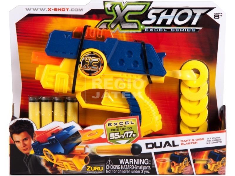 X-Shot Dual 2 az 1-ben szivacslövő pisztoly